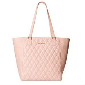 Vera Bradley Large Quilted Leather Pink Ella Tote